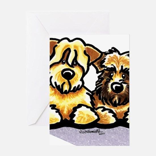 Wheaten Terrier Cartoon Greeting Card