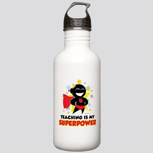 Teaching Is My Superpower Stainless Water Bottle 1