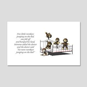 Five Little Monkeys, 22x14 Wall Peel