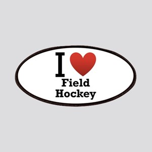 I Love Field Hockey Patches