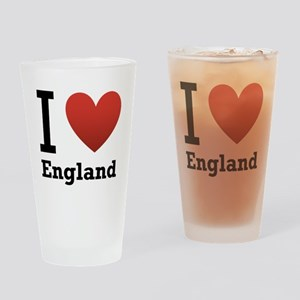 I Love England Drinking Glass