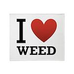 I Love Weed Throw Blanket