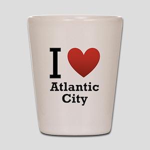 I Love Atlantic City Shot Glass