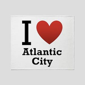 I Love Atlantic City Throw Blanket