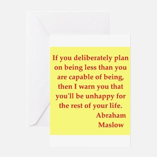 Abraham maslow quptes Greeting Card