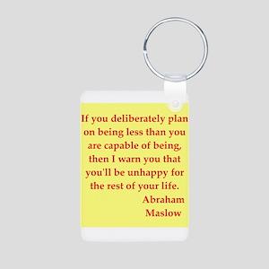 Abraham maslow quptes Aluminum Photo Keychain