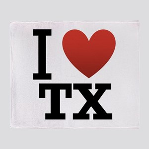 I Love TX Throw Blanket