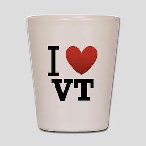 I Love Vermont Shot Glass