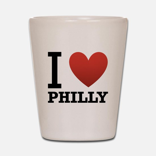 I Love Philly Shot Glass