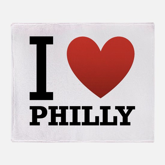I Love Philly Throw Blanket