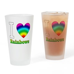 I Love Rainbows Drinking Glass