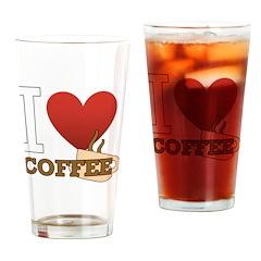 I <3 Coffee Drinking Glass