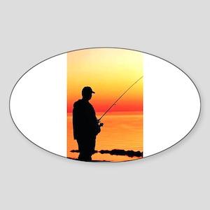 fishin man Sticker
