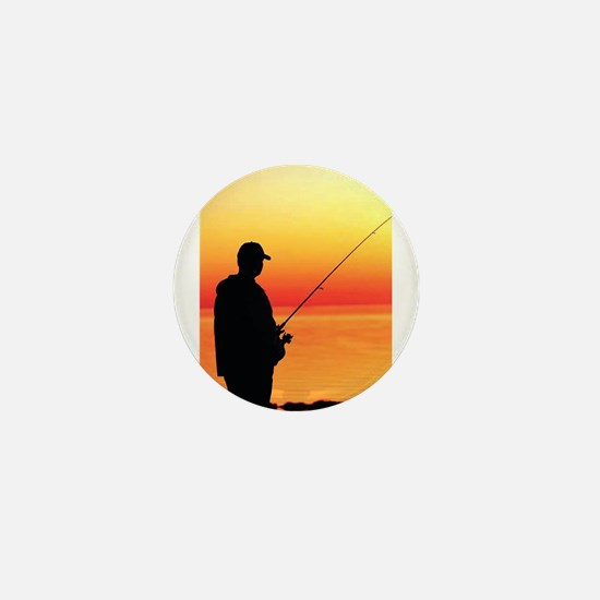 Cute Fisherman Mini Button