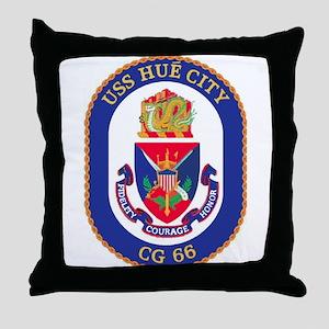 USS Hue City CG 66 Throw Pillow