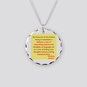 Abraham maslow quptes Necklace Circle Charm