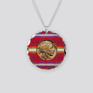 Indian Design-02a Necklace Circle Charm