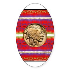 Indian Design-02a Sticker (Oval 10 pk)