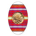 Indian Design-02a Sticker (Oval)