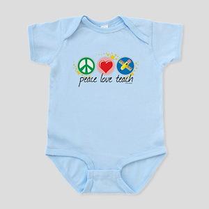 Peace Love Teach Infant Bodysuit