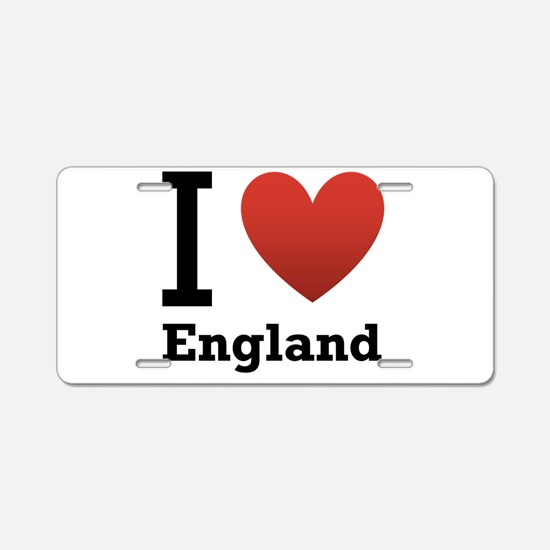 I Love England Aluminum License Plate