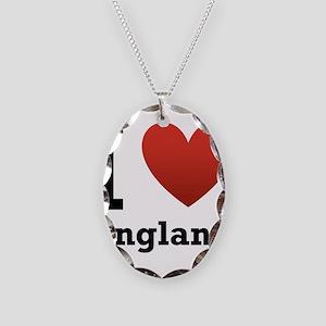 I Love England Necklace Oval Charm