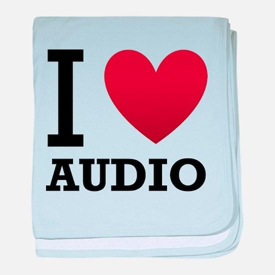I Love Audio baby blanket