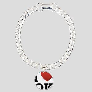 I Love Oklahoma Charm Bracelet, One Charm