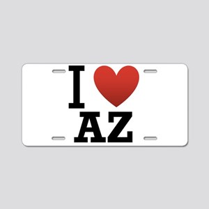 I Love Arizona Aluminum License Plate