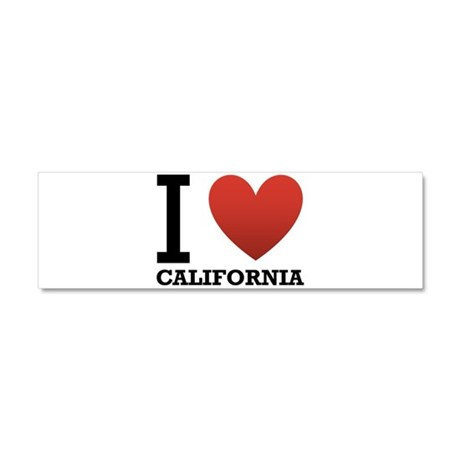 I Love California Car Magnet 10 x 3