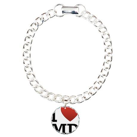 I Love Maryland Charm Bracelet, One Charm