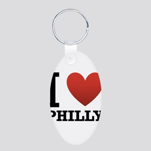 I Love Philly Aluminum Oval Keychain