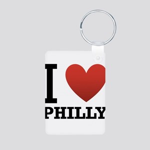 I Love Philly Aluminum Photo Keychain
