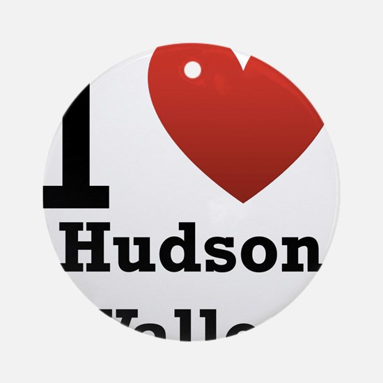 I Love Hudson Valley Ornament (Round)