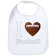 I Love Football Bib
