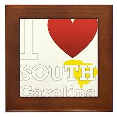South Carolina Framed Tile