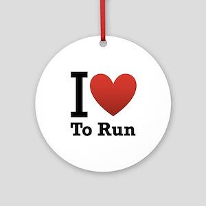 I Love to Run Ornament (Round)