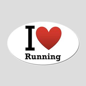 I Love Running 22x14 Oval Wall Peel