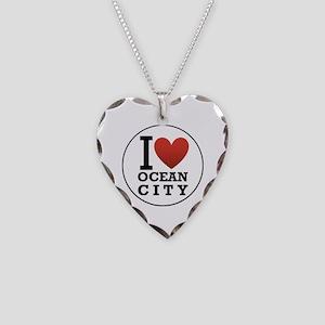 I <3 Ocean City Necklace Heart Charm
