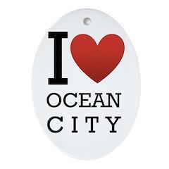 I <3 Ocean City Ornament (Oval)