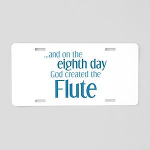 Flute Creation Aluminum License Plate