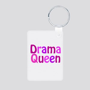 Drama Queen Aluminum Photo Keychain