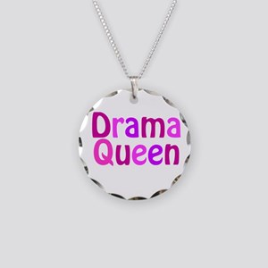 Drama Queen Necklace Circle Charm