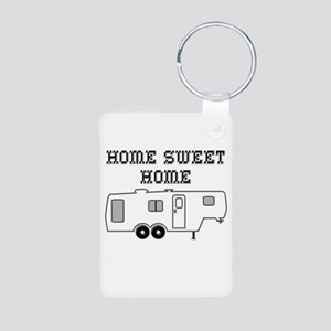 Home Sweet Home Fifth Whee Aluminum Photo Keychain