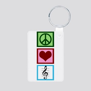 Peace Love Choir Aluminum Photo Keychain