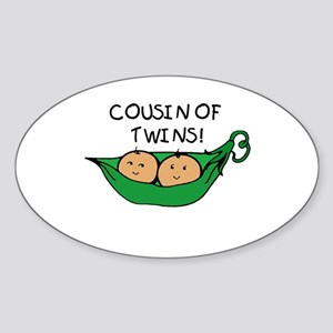Cousin of Twins Oval Sticker