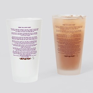 PoliceWife Poem Drinking Glass