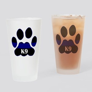K9 Thin Blue Drinking Glass