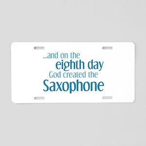 Saxophone Creation Aluminum License Plate