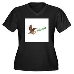 Utuado Women's Plus Size V-Neck Dark T-Shirt